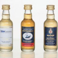 Own label range Miniatures :: Comprehensive range of specially selected Scotch Whisky miniatures, further enhanced by adding your company logo or event, using the latest Gold or Silver foil blocking techniques. Other spirits such as Vodka and Gin can also be supplied.