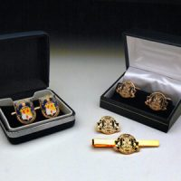 Cufflinks :: Striking examples of a very popular gift set, a range of our cufflinks, tie pins and pin badges.